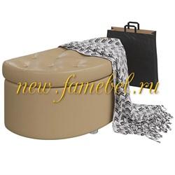 Банкетка 6-5115 Луна, искусственная кожа кофе с молоком ШхГхВ 83х41х43 см.