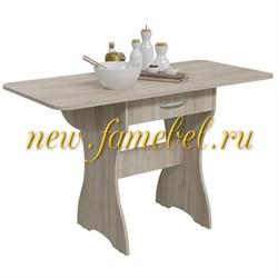Стол обеденный раскладной с ящиком 6-02.120ТМдубсон, цвет дуб сонома, ШхГхВ 120х57х75 см., 60х57х75 см. сложенный - фото 10413