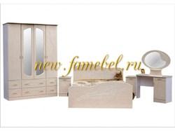 Спальня Ноктюрн МДФ с четырёх дверным шкафом