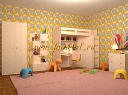 Астра детская стенка с кроватью чердак