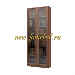 Шкаф книжный Карлос 006, размер 80х203х28 см, стеклодвери.
