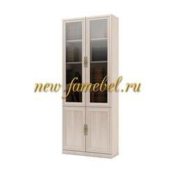 Шкаф витрина книжная Карлос 010, размер 80х203х28 см.