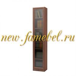 Шкаф книжный Карлос 005 витрина, размер 40х203х28 см