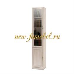 Шкаф книжный Карлос 009 витрина, размер 40х203х28 см