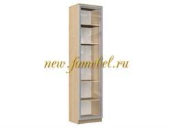 Шкаф книжный витрина Альма 1, размер 40х200х40 см