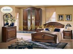 Спальня Джессика 2 МДФ с 4-х створчатым шкафом