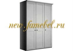 София 1 распашной шкаф 120х220х50 см, фасад мдф, трёх створчатый