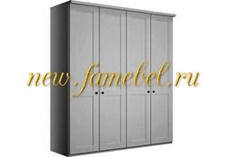 Распашной шкаф София 3 МДФ 160х220х50 см, четырёхстворчатый белый