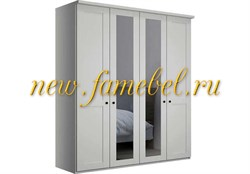 Распашной шкаф София 5 МДФ 160х220х50 см, четырёхстворчатый белый