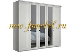 Шкаф София 9 МДФ, цвет белый, размер 200х220х50 см, с зеркалами