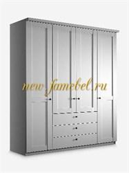 Шкаф София 16 с фасадом МДФ 160х220х50 см, распашной с ящиками