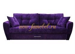 Диван еврокнижка Амстердам Люкс 150 полностью велюр фиолетовый