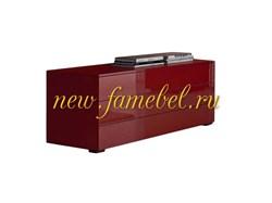 Комод элит 40, фасад мдф 3 ящика, рубин глянец, направляющие push-to-open