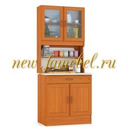 Буфет для кухни МД 800 цвет вишня, ШхГхВ см, 80х60х200