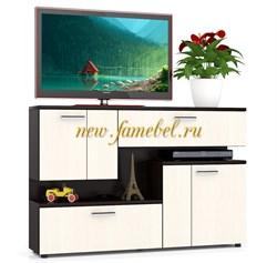 Тумба ТВ МД 1400 цвет венге/дуб, ШхГхВ см, 140х30х93