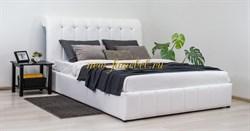 Августа кровать интерьерная с ортопедом 160х200, К/З Вик белый