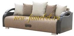 Диван еврокнижка Юпитер рогожка коричневая