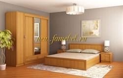 Спальня Валерия 6 гарнитур с трёхдверным шкафом купе