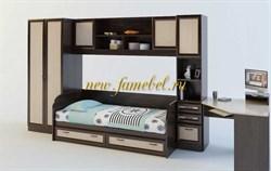 Детская стенка Белоснежка 6 ВМ с кроватью