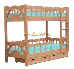 Кровать Адмирал двухъярусная с ящиками