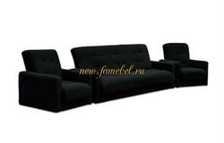 Комплект Милан Астра чёрный Диван и два кресла