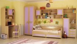 Детская стенка Камилла розовый