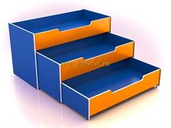 Кровать трёхуровневая Малыш 3