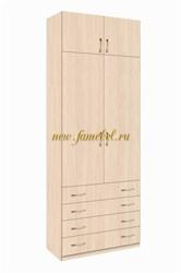 Зодиак 2.4+А шкаф две двери с Антресолью
