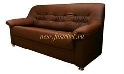 Диван Карелия 3 экокожа коричневый