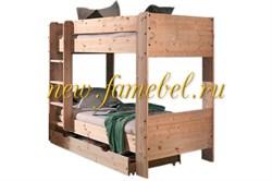 Кровать Лилия-2 двухъярусная с ящиками