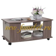 Стол журнальный 6-0222 Герда, цвет бодега тёмный/бодега светлый, ШхГхВ 90х55х47 см