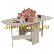 Стол-книжка раскладной 1-65М1, цвет дуб сонома, ШхГхВ 170х90х74 см., 30х90х74 см. сложенный
