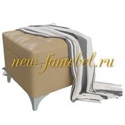 Банкетка 6-5113ксм Жозефина-2, искусственная кожа кофе с молоком (кофе с молоком NEXT), ШхГхВ 46х46х45 см., под сиденьем есть ниша