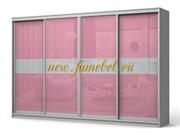 Фараон 9 шкаф-купе корпус белый, фасад розовый