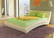 Кровать интерьерная Оливия с основанием белая