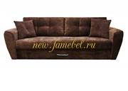 Диван еврокнижка Амстердам Люкс 150 полностью велюр коричневый