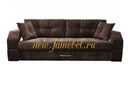 Диван Еврокнижка Манчестер 150 с подсветкой полностью велюр коричневый