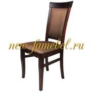 Стул Гольф 15, цвет орех обивка ткань ромб коричневый