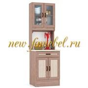 Кухонный Буфет МД 600 цвет Ясень Шимо тёмный и светлый, ШхГхВ см, 60х60х200