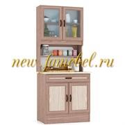 Кухонный Буфет МД 800 цвет Ясень Шимо тёмный и светлый, ШхГхВ см, 80х60х200