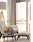 Шкаф Марсель Горизонт цвет сонома - белый глянец