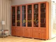 Книжная библиотека Яна 6, цвет вишня
