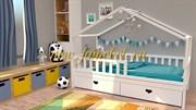 БК-02 детская кровать массив бука прокрас белый
