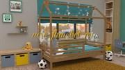 НК-05 кровать домик без ящика массив бука