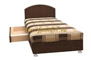 Кровать 2 с ящиком коричневый мегабосс