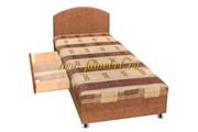 Кровать с ящиком мегабосс золотой
