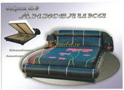 Кровать Анжелика с подъемником черный
