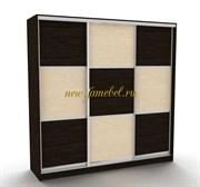 Шкаф купе Лагуна 38 комбинированный шахматы