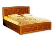 Кровать Ариэль 1 с кожей