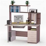 Роберт 4 угловой компьютерный стол с надставкой